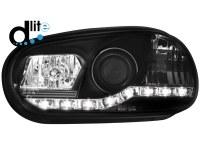 Phares D-LITE VW Golf IV 98-02 DRL _noir (la paire)