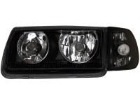 Phares VW Polo 6N 95-98 _ sans anneaux angeleyes_noir (la paire)