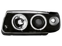Phares VW Polo 6N 95-98 _ 2 anneaux angeleyes _ noir (la paire)