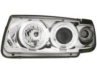 Phares VW Polo 6N 95-98 _ 2 CCFL anneaux angeleyes (la paire)