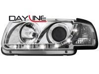 Phares DAYLINE VW Polo 6N 95-98 _ Devil eyes _ chrome (la paire)