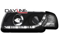 Phares DAYLINE VW Polo 6N 95-98 _ Devil eyes _ noir (la paire)