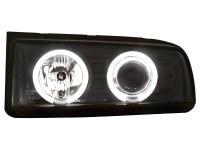 Phares VW Corrado 87-95 _ 2 CCFL anneaux angeleyes noir (la paire)
