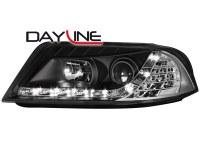 Phares DAYLINE VW Passat 3BG 00-04 _ Devil eyes _ noir (la paire)
