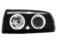 Phares VW Vento 91-98 _ 2 anneaux angeleyes _ noir (la paire)