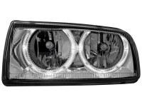 Phares VW Vento 91-98 _ 2 anneaux angeleyes _ chrome (la paire)