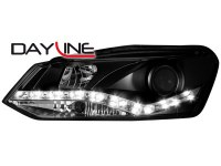 Phares DAYLINE VW Polo 6R _ Devil eyes _ Noir (la paire)