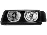 Phares VW Passat 35i B4 93-96 _ 2 anneaux angeleyes _ noir (la paire)