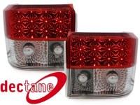 LED feux arrière Transporter T2 79 - 93 _ red/crystal VW Transporter T2 79 - 93  (la paire)