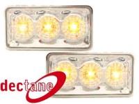 LED clignotants Clio 3 / Vento  -95 _ chrome VW Clio 3 / Vento 91 - 98  (la paire)