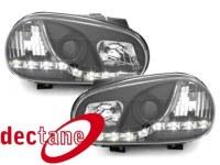 DECTANE Phare de jour VW Golf 4 98-02 schwarz VW VW Golf 4 98-02 (la paire)