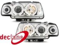 Phare Polo 6N 95 - 98 _ 2 Standlichtringe _ chrome VW Polo 6N 95 - 98;XERH1 (la paire)