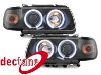 Phare Polo 6N 95 - 98 _ 2 CCFL SLR _ black VW Polo 6N 95 - 98;XERH1 (la paire)