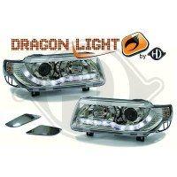 Phare Kit de projecteurs principaux 93-96 KLARGLAS/CHROM (la paire)