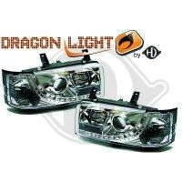 Phare Kit de projecteurs principaux 90-03 KLARGLAS/CHROM (la paire)