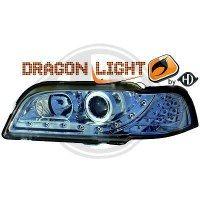 Phare Kit de projecteurs principaux 96-00 KLARGLAS/CHROM (la paire)