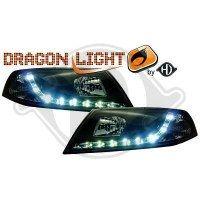 Phare Kit de projecteurs principaux 04-08 KLARGLAS/SCHWARZ (la paire)