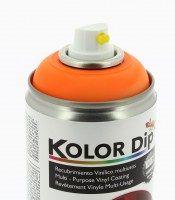 KOLOR DIP PEINTURE FINITION ORANGE FLUO- SPRAY 400 ML