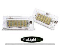 ECLAIRAGE DE PLAQUES LICENSE LED LIGHTS fits BMW X5 E53 / X3 (la paire) [eclcdt_tec_PRBM06]