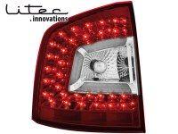 LITEC Feux arrière LED Skoda Octavia 1Z 04+ rouge/cristal (la paire)