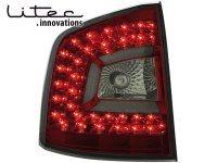 LITEC Feux arrière LED Skoda Octavia 1Z 04+ rouge/fumé (la paire)