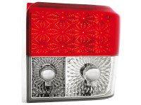 Feux arrière LED VW T4 90-03 _ rouge/cristal (la paire)