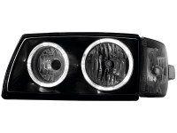 Phares VW T4 97-03 _ 2 anneaux angeleyes _noir (la paire)