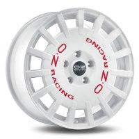 OZ<br>  RALLY RACING [8 x 17] <br>BLANC LETTRE ROUGE ET48 -5x100-