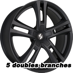 jantes alu 5 doubles branches
