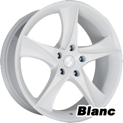jantes alu blanches, blanche